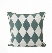 Ferm Living Large Geometry Cushion - Petrol