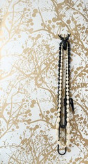Ferm Living Ribbed - Wilderness in Gold and White Wall Smart Wallpaper