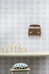 Ferm Living Rush Hour - Grey Wall Smart Wallpaper
