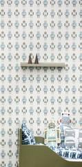 Ferm Living Robots Wall Smart Wallpaper