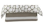 Oilo Cobblestone Solid Band Crib Skirt - Taupe