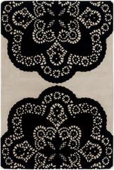 Chandra Rugs Thomas Paul - Tufted Pile Doily Ebony-Cream Area Rug