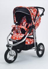 Baby Bling Mariposa Red ATS Safety Stroller with all the Product
