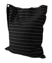 Powell Bean Bag in Black and White Wide Pin Stripe