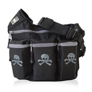 Diaper Dude Dude Bag Black Skull