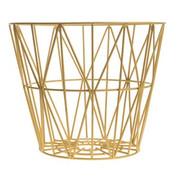 Ferm Living Wire Basket in Yellow - Medium