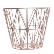 Ferm Living Wire Basket in Rose - Medium