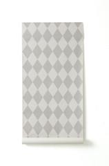Ferm Living Harlequin Wallpaper - Grey