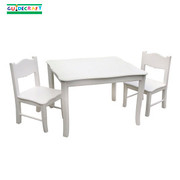 Guidecraft Classic White Table and Chairs Set