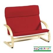 Guidecraft Kiddie Rocker Couch - Red