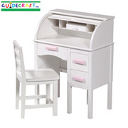 Guidecraft Jr Roll-Top Desk - White