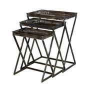 Powell Gloss Metal Set of 3 Nesting Tables