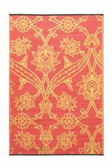 Koko Company 4' x 6' Floormat Fuchsia Flower - Persimmon