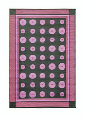 Koko Company 4' x 6' Floormat Dots - Berry
