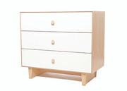 Oeuf Merlin 3 Drawer Dresser with Rhea Base