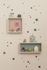Ferm Living  Mini Stars  - Black Wall Stickers