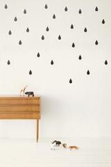 Ferm Living  Mini Drops - Black Wall Stickers