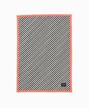 Ferm Living  Black Stripe Quilted Blanket - Neon