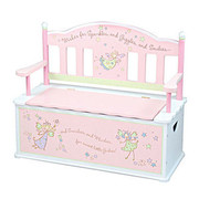 Levels of Discovery Fairy Wishes Kids Benches with Storage