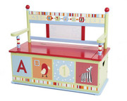 Levels of Discovery Alphabet Soup Kids Benches with Storage