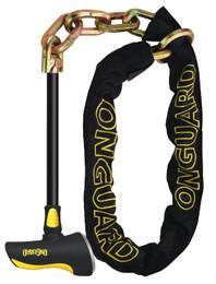 OnGuard 8017LPT Beast Loop & T Chain Lock 4.54' x 11mm