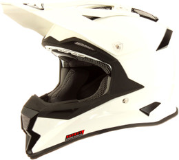 Suomy Carbon Alpha Solid White Helmet