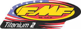 FMF EXHAUST 2-STROKE TITANIUM 2 DECAL (012786)