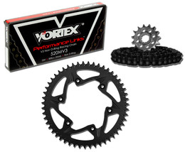 Vortex CK2201 Chain and Sprocket Kit MXA HON CR125R 87-96, 98-99 (1U,ALU)