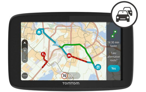 TOMTOM GO 520 5Sat Nav with Worldwide Maps & Case Bundle