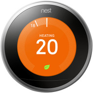 Nest Learning Thermostat, 3rd Generation - Stainless Steel