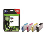HP 364 Original Ink Cartridge - Black/Cyan/Magenta/Yellow, Pack of 4
