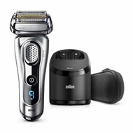 Braun Series 9 9290cc Men's Electric Foil Shaver, Wet and Dry with Clean and Renew Charge Station, Pop Up Trimmer, Rechargeable and Cordless Razor and Travel Case Silver