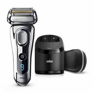 Braun Series 9 9296cc Men's Electric Foil Shaver, Wet and Dry with Clean and Renew Charge Station, Pop Up Trimmer, Rechargeable and Cordless Razor and Travel Case Chrome