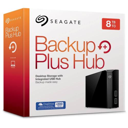 Seagate Backup Plus Hub 8 TB USB 3.0 Desktop, 3.5 inch External Hard Drive for PC and Mac with Integrated 2 Port USB Hub