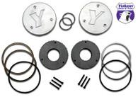 Yukon hardcore drive flange kit for Dana 44, 19 spline outer stubs. Non-engraved caps..