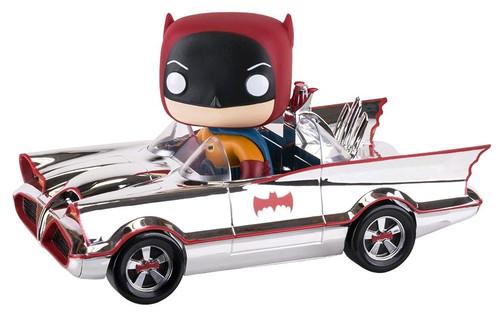 1966 Batmobile Chrome -Batman - SDCC Exclusive - Pop! Movies Vinyl Ride