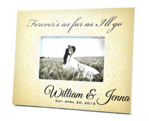 Patterned Background Wedding Picture Frame