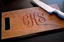 Scroll Monogram Cutting Board