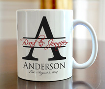 Large Initial Coffee Mug