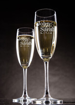 Personalized Champagne Toasting Flutes with First Names