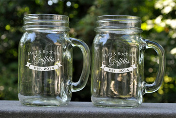 personalized mason jars engraved mason jar mugs