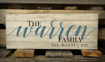 Personalized Family Name Pallet Box Sign Warren