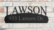 Personalized Arched Metal Address Sign