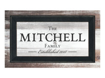 Personalized Framed Timberprintz Sign