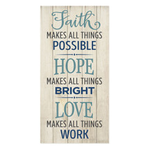 Faith makes all things possible