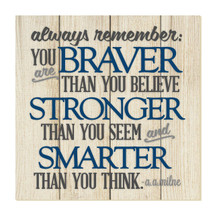Always remember you are braver