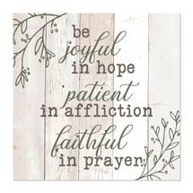 Be joyful in hope 12x12