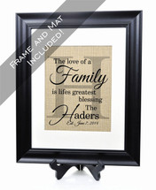 The Family Burlap Print
