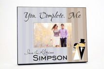 You Complete Me Wedding Picture Frame
