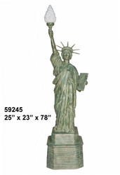 "Statue of Liberty Lamp - 78"" Design"